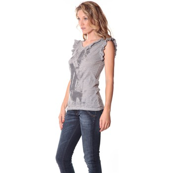 Vêtements Femme Débardeurs / T-shirts sans manche Rich & Royal Rich&Royal Tee shirt Glam Gris 13q427/862 Gris