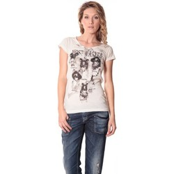 Vêtements Femme T-shirts manches courtes Rich & Royal Rich&Royal Tee shirt Visages Ecru13q801/113 Beige