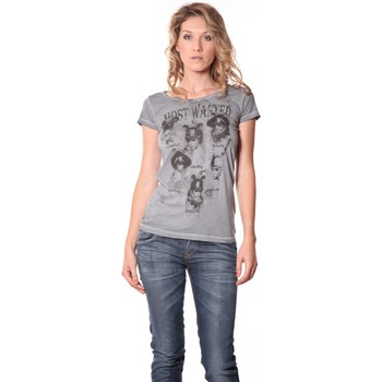 Vêtements Femme T-shirts manches courtes Rich & Royal Rich&Royal Tee shirt Visages Gris 13q801/862 Gris