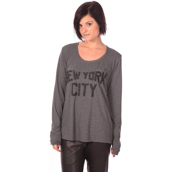 Vêtements Femme T-shirts manches longues Charlie Joe Top New York Gris