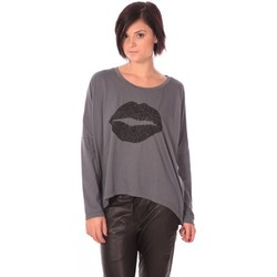 T-shirts manches longues Charlie Joe Top Lips Gris