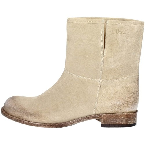 Chaussures Femme Boots Liu Jo S14059 TEA Bottes Femme Beige Beige