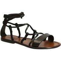Chaussures Femme Sandales et Nu-pieds Gianluca - L'artigiano Del Cuoio 519 D MORO CUOIO Testa di Moro