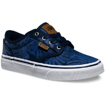 Chaussures Homme Baskets basses Vans Atwood Deluxe Palm Leaf Scarpe Uomo Blu Tela XB2FJA bleu