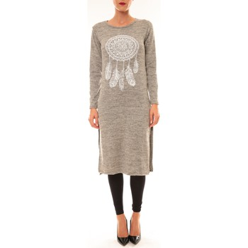 Robes longues By La Vitrine Robe Plume Gris