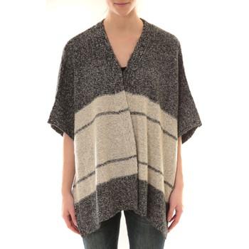 Vêtements Femme Gilets / Cardigans Barcelona Moda Gilet YM21 Gris et Beige Gris