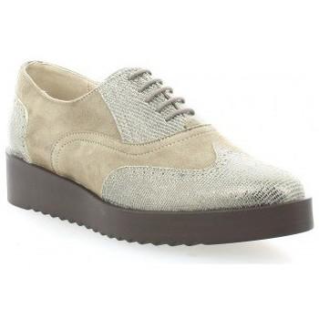 Chaussures Femme Derbies Vidi Studio Derby cuir laminé Argent
