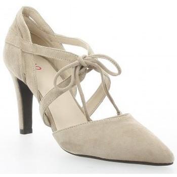 Chaussures Femme Sandales et Nu-pieds Vidi Studio Escarpins cuir velours Beige