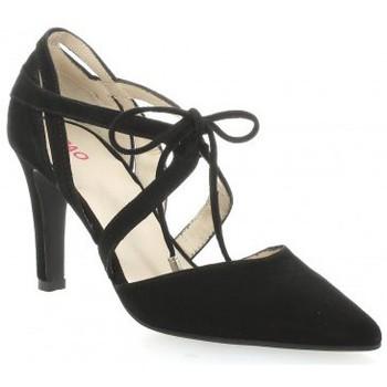 Chaussures Femme Sandales et Nu-pieds Vidi Studio Escarpins cuir velours Noir