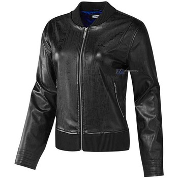 Vêtements Femme Vestes adidas Originals EF Faux Leather Jacket Noir
