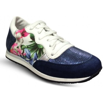 Chaussures Femme Baskets basses Reqins Baskets Enfant ELVIS MIX TROPICAL bleu