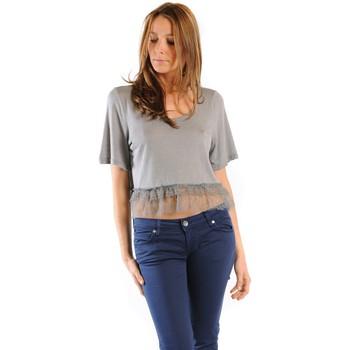 Vêtements Femme T-shirts manches courtes Gat Rimon TOP LYLY PLOMB Gris