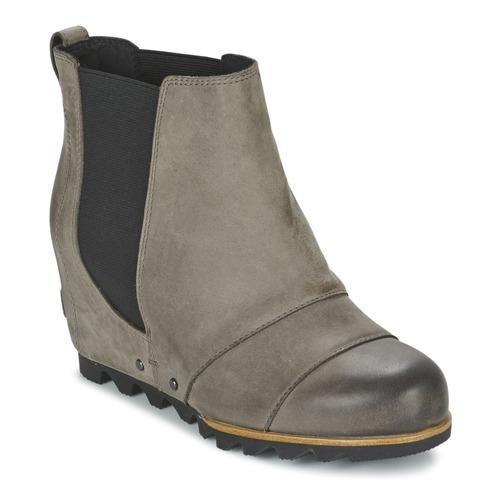 Chaussures Femme Bottines Sorel LEA WEDGE Gris foncé