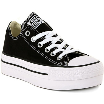 Chaussures Femme Baskets basses Converse ALL STAR PLATFORM OX BLACK Nero