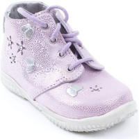 Chaussures Fille Boots Little Mary - Salomé à lacets MARTINE lilas violet