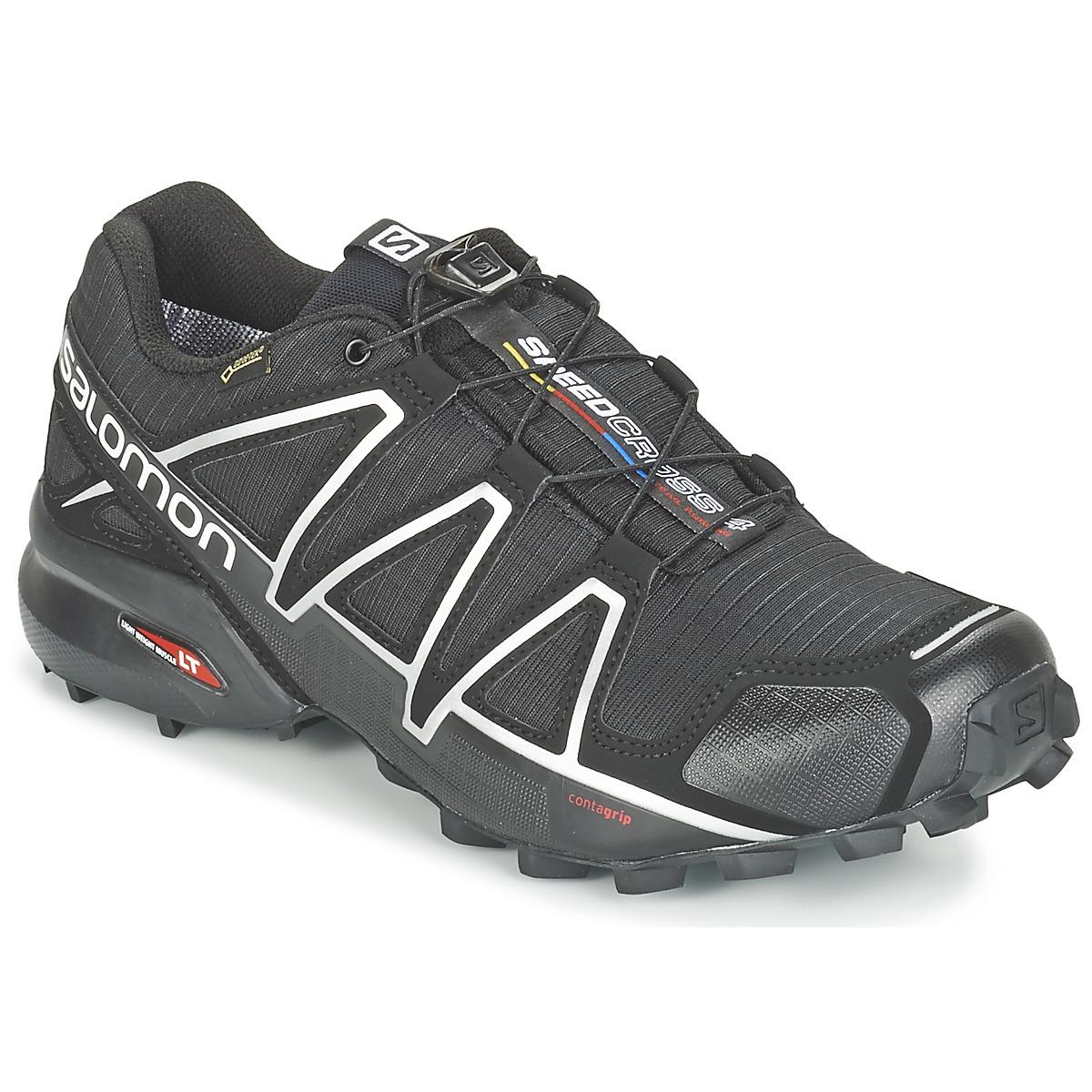 Chaussures-de-running Salomon SPEEDCROSS 4 GTX® Noir / Argent