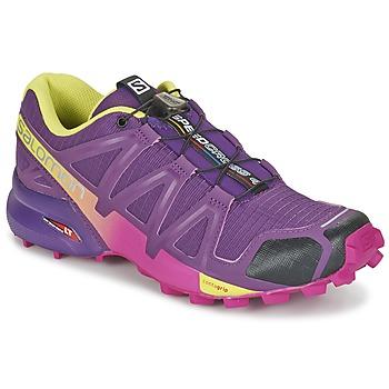 Chaussures-de-running Salomon SPEEDCROSS 4 W Violet / Jaune 350x350