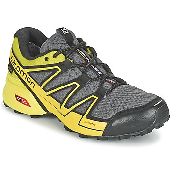 Chaussures-de-running Salomon SPEEDCROSS VARIO GTX® Gris / Vert / Jaune 350x350