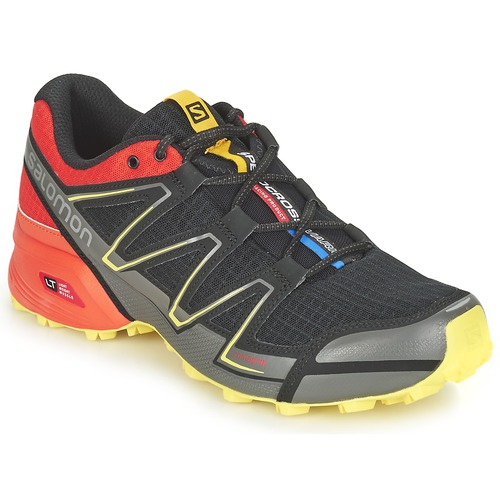 Chaussures-de-running Salomon SPEEDCROSS VARIO Noir / Rouge / Jaune 350x350