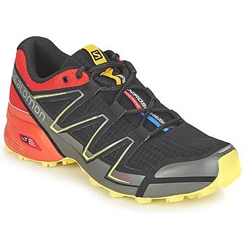 Chaussures-de-running Salomon SPEEDCROSS VARIO Noir / Rouge / Jaune 350x350