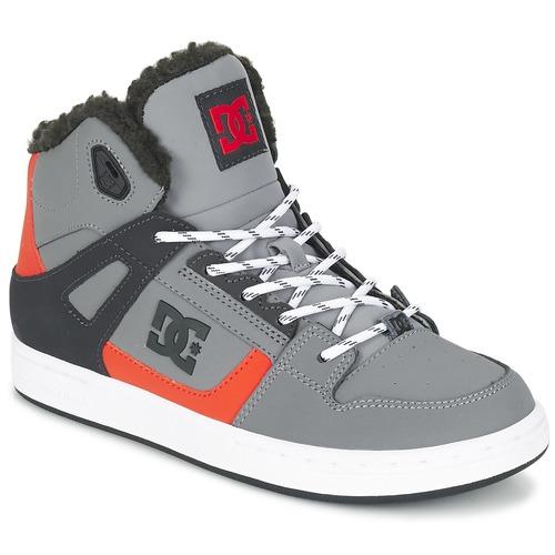 Chaussures Enfant Baskets montantes DC Shoes REBOUND WNT B SHOE XSKN Gris / Noir / Orange