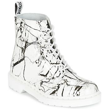 Bottines / Boots Dr Martens PASCAL MRBL Blanc Marbre 350x350
