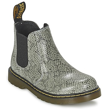 Chaussures Enfant Boots Dr Martens BANZAI ASP Gris Clair