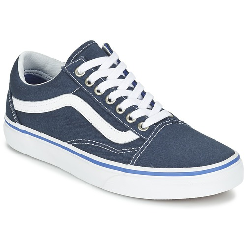 Chaussures Baskets basses Vans OLD SKOOL Marine / Blanc