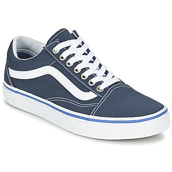 Baskets mode Vans OLD SKOOL Marine / Blanc 350x350