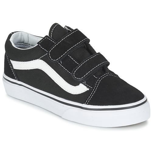 Chaussures Enfant Baskets basses Vans OLD SKOOL V Noir / blanc