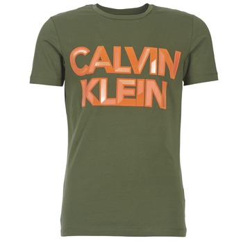 Vêtements Homme T-shirts manches courtes Calvin Klein Jeans TERRAIN CN SLIM FIT Kaki