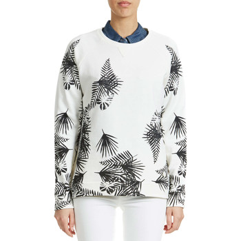 Sweats Lee Sweat Shirt  Leaves Ecru Femme