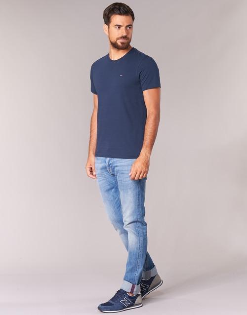 Homme Courtes Jeans shirts Manches Ofleki Marine T Tommy nOvmwN80