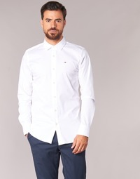 Vêtements Homme Chemises manches longues Tommy Jeans TJM Original Stretch Shirt Blanc