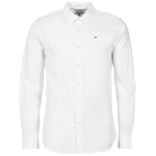 Vêtements Homme Chemises manches longues Tommy Jeans KANTERMI Blanc