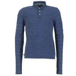 Vêtements Homme Polos manches longues Hilfiger Denim KORIKO Bleu