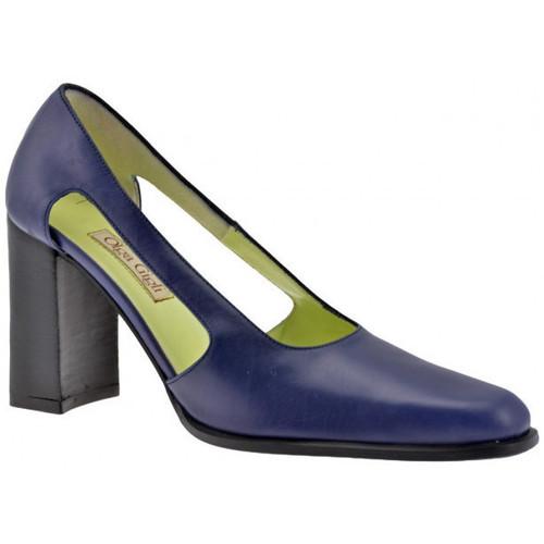 Chaussures Femme Escarpins Olga Gigli Ouvrirtalon90Escarpins Bleu