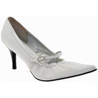 Chaussures Femme Escarpins Chedivé Talon doux 80 Escarpins blanc