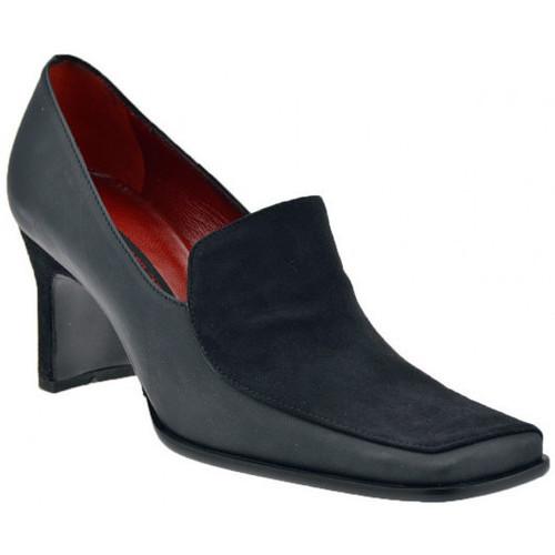 Chaussures Femme Escarpins Enrico Del Gatto Talon Suede Loafer 70 Escarpins Noir