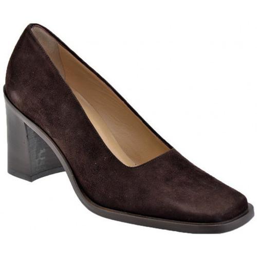 Chaussures Femme Escarpins Strategia Panneaucoudetalon80Escarpins Marron