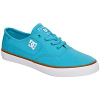 Chaussures Homme Baskets basses DC Shoes Baskets Homme  Flash TX Skate Wild Dove Bleu