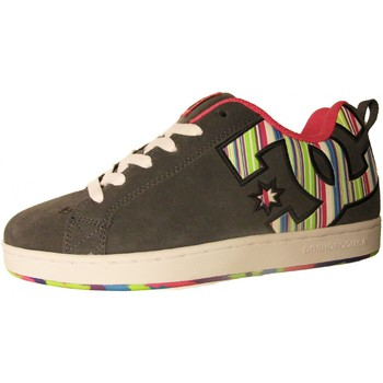Chaussures Femme Baskets basses DC Shoes Baskets Femme  COURT GRAFFIK SE Dark Shadow Lollipop Un grand cl Gris