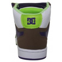 Chaussures Femme Baskets montantes DC Shoes TRICKY MID White Soft Lime Blanc
