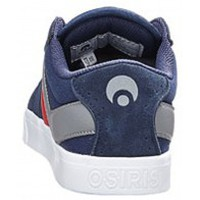 Chaussures Homme Baskets basses Osiris LUMIN Navy grey red Bleu