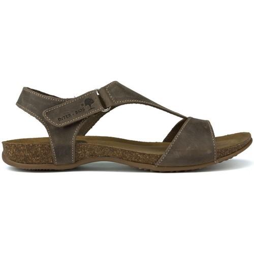 Chaussures Femme Sandales et Nu-pieds Interbios SANDALES ANATOMIQUES INTERMÉDIAIRES 4420 BRUN