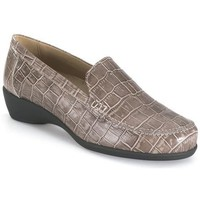 Chaussures Femme Mocassins Calzamedi orthopédique taupe mocassin BROWN