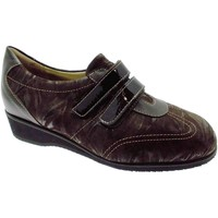 Chaussures Femme Baskets basses Loren Article L8050 brune extra large femme velcro de chaussure orthop marrone