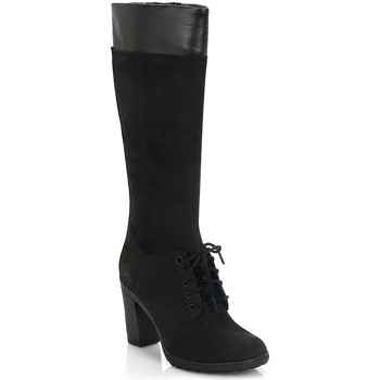 Chaussures Femme Bottes ville Timberland Womens Black Glancy Tall Lace with Zip Boots Timberland_583