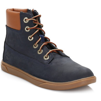 Boots Timberland Junior Navy & Tan Groveton Lace with Side Zip Boots