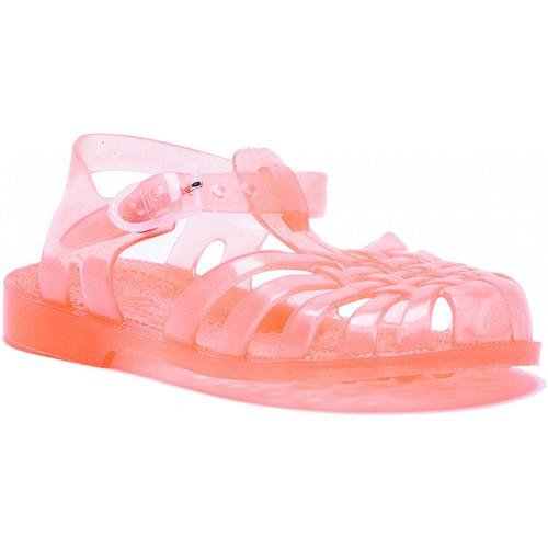 Chaussures Fille Sandales et Nu-pieds Méduse Sandales enfant en plastique saumon pailleté Orange